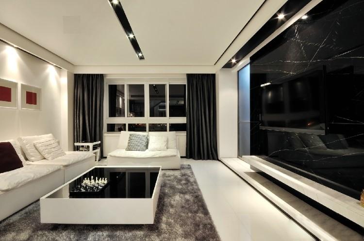 現代150平方復式客廳