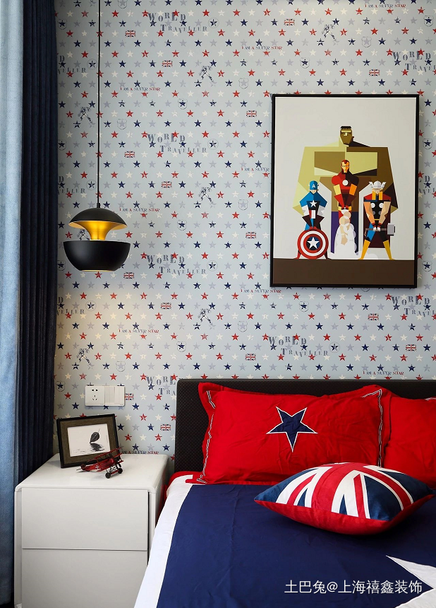 时尚质感简约大平层阳台改厨房扩大餐厅卧室现代简约卧室设计图片赏析
