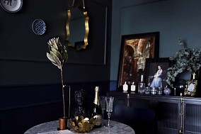92㎡二居室,重色轻彩复古风厨房欧式豪华设计图片赏析