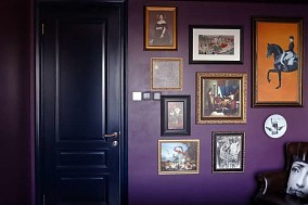 92㎡二居室,重色轻彩复古风卧室2图欧式豪华设计图片赏析