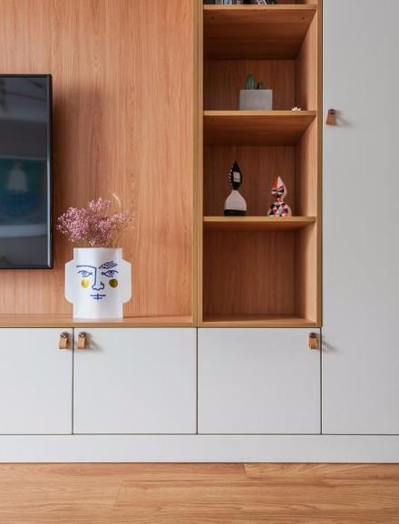 北欧风格2居室,粉色浪漫的小窝客厅
