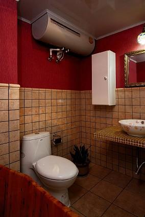 140㎡美式田园三室,邂逅温暖惬意的家卫生间美式田园设计图片赏析