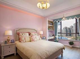 146㎡三室一厅美式田园风卧室美式田园设计图片赏析