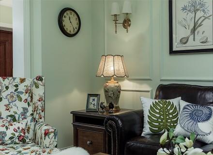 124㎡美式经典,朴实的温暖感客厅