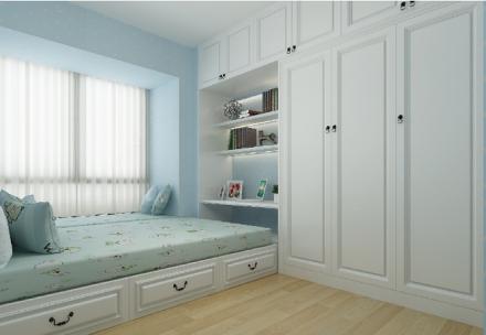 98平三室北欧装修风格卧室