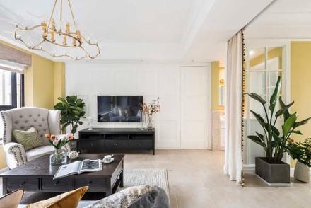 70㎡美式风,让家充满温暖的光客厅