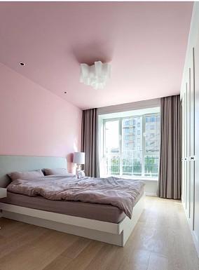 柔绵彩色不是单调的空间卧室北欧极简设计图片赏析