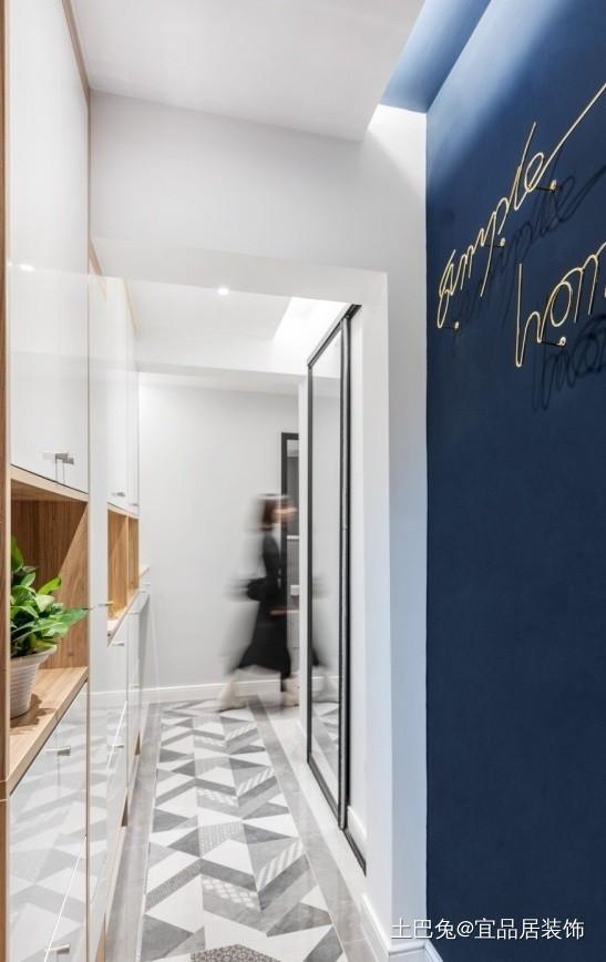 72平北欧两居简洁而有质感功能区瓷砖北欧极简功能区设计图片赏析