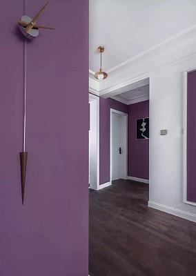 浓浓轻奢简美风,优雅的紫色打造梦幻空间!功能区设计图片赏析