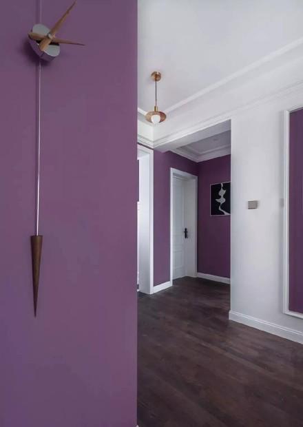 浓浓轻奢简美风,优雅的紫色打造梦幻空间!功能区