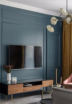 89㎡2居室,高端典雅的代名词客厅欧式豪华设计图片赏析