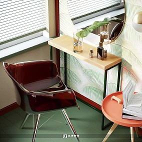 88㎡混搭一个春意盎然的家卧室潮流混搭设计图片赏析