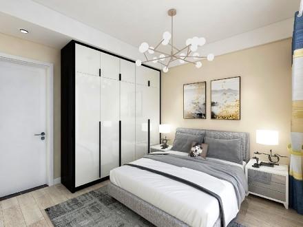 110㎡让你耳目一新的纯净搭配卧室