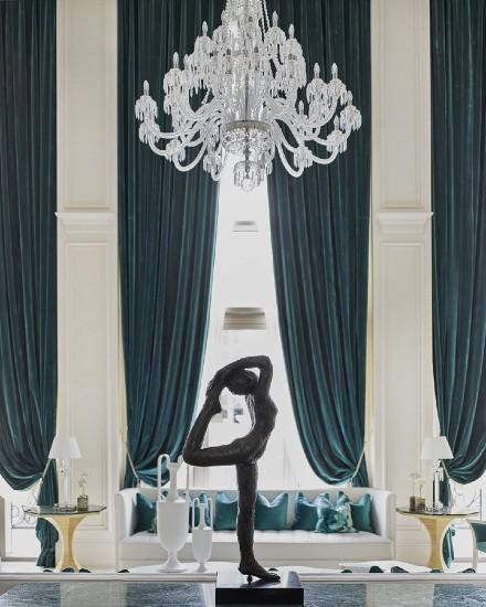 480㎡奢华法式别墅设计客厅