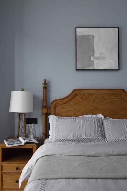这样的家灰色的高雅包容,蓝色的平和深邃卧室