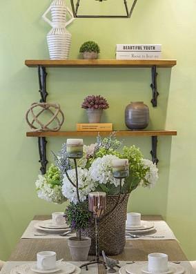 125平方三居田园风格清新自然厨房美式田园设计图片赏析