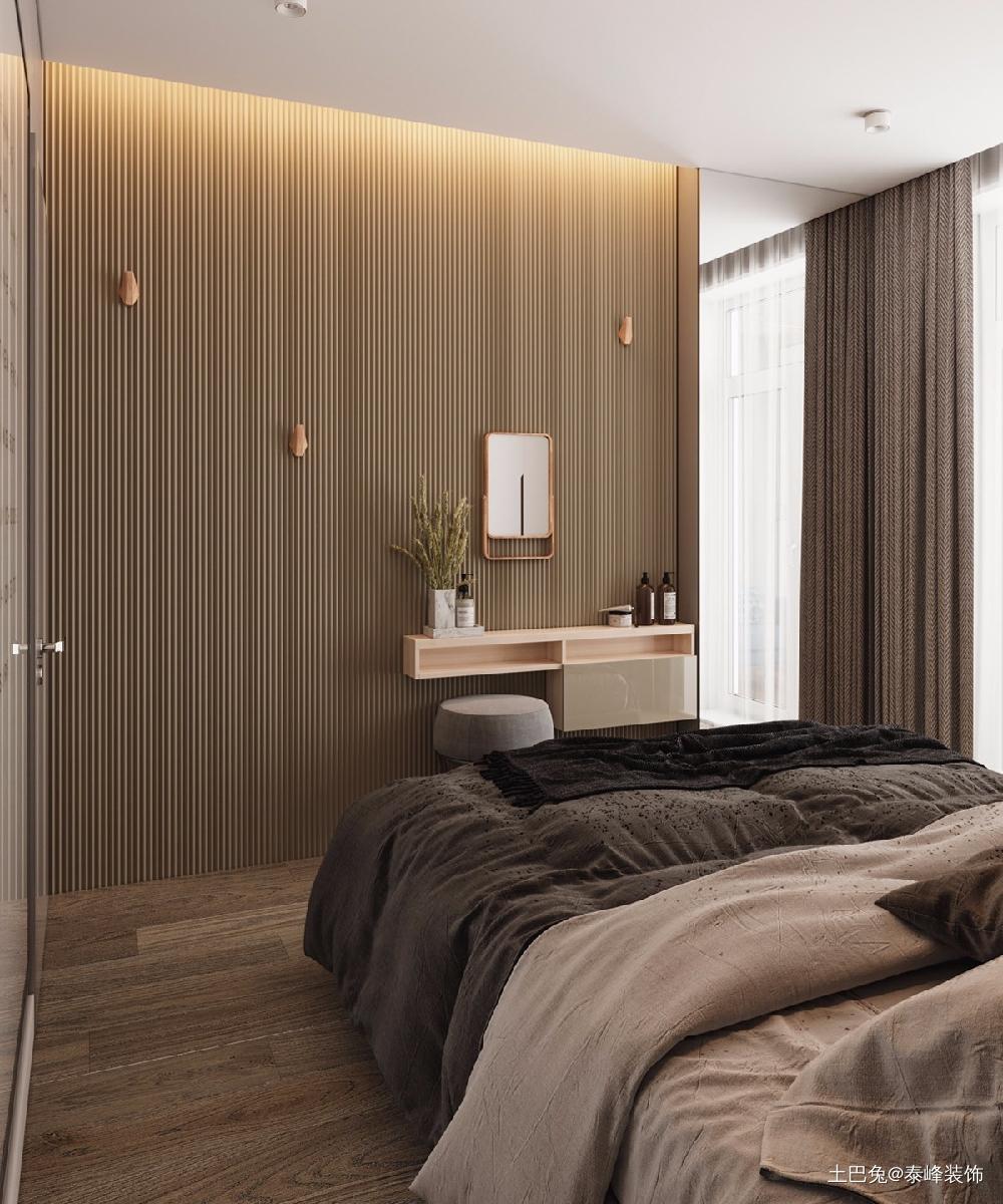 清新简约的一室一厅美好的小屋卧室现代简约卧室设计图片赏析
