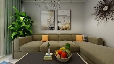 77㎡小空间多功能安排合理应该这么设计客厅