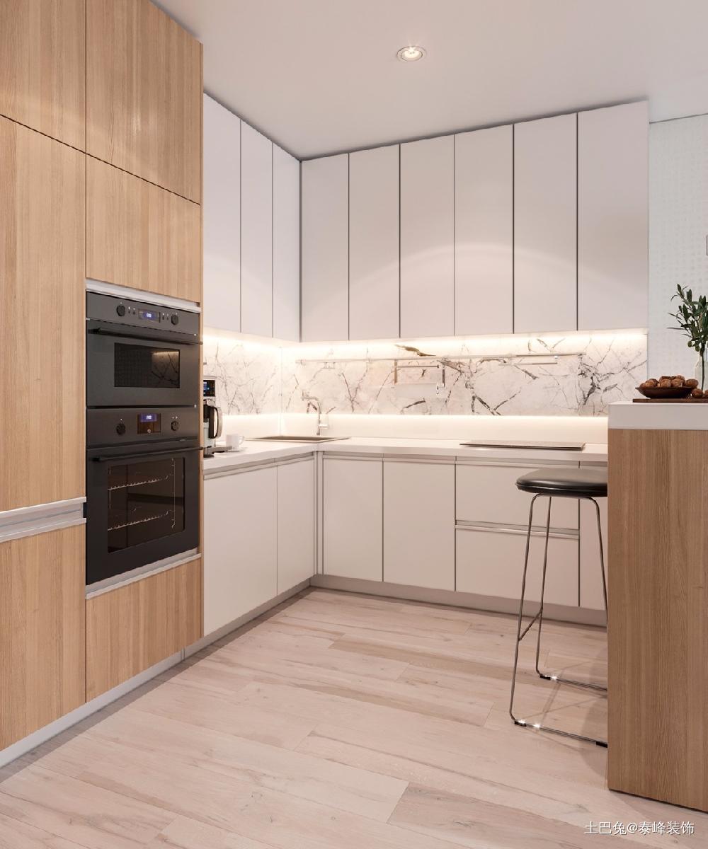 清新简约的一室一厅美好的小屋餐厅现代简约厨房设计图片赏析