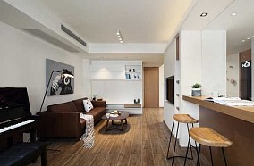 现代风格二居室93㎡新梅江雅境新风尚11437602