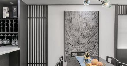 168㎡新中式风格,低调灰色禅意轻奢厨房