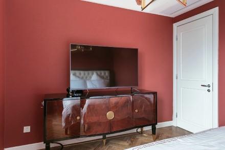 大户型的完美搭配,小美式的清新感卧室