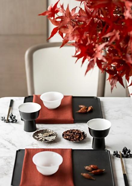 新中式风格三室二厅150平厨房