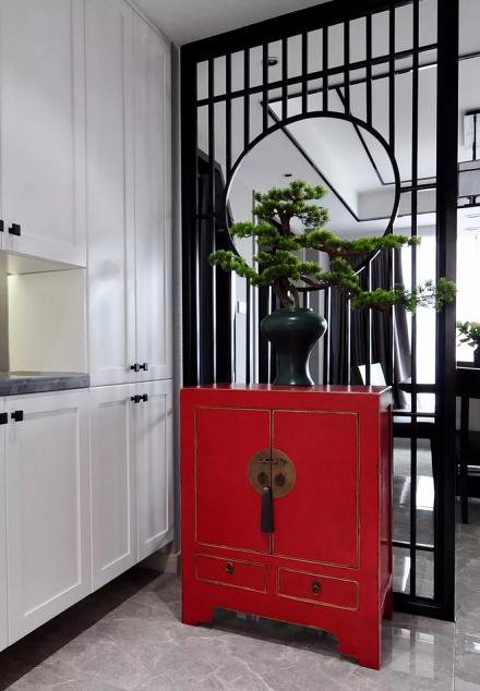 138㎡新中式风格,设计带来品质生活玄关
