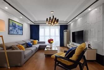 现代简约三居室,电视背景墙这样做好大气