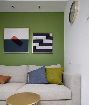 60㎡现代风格,永新景园客厅1图现代简约设计图片赏析