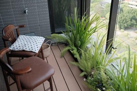 122平三室户型北欧风格阳台