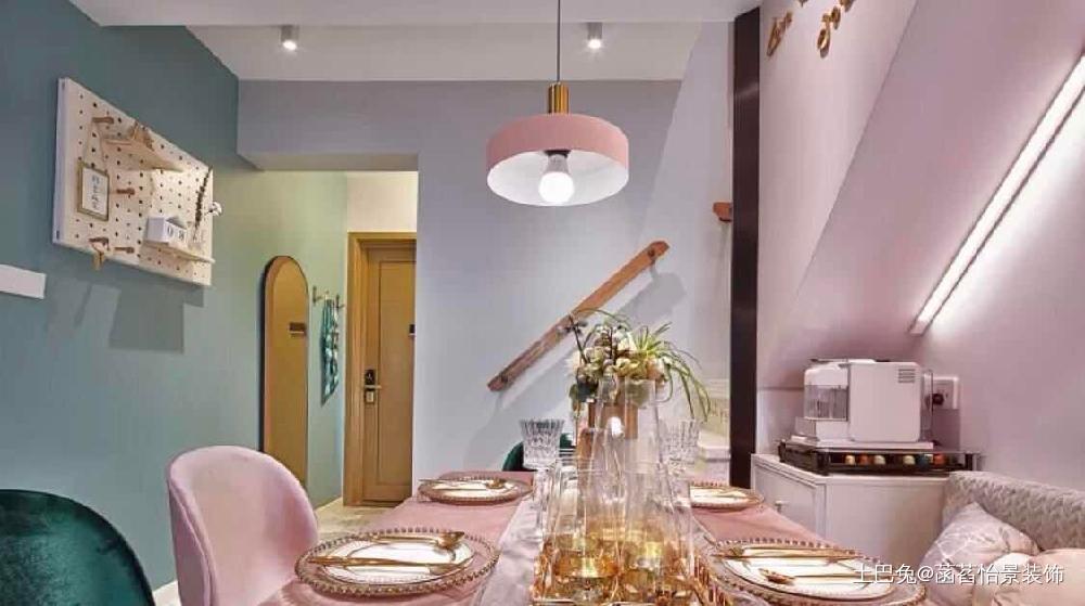 精装复式house变身精致ins网红风厨房北欧极简餐厅设计图片赏析