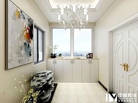 圣城华府96平简欧风格玄关欧式豪华设计图片赏析