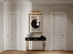 100平现代轻奢2房2厅,典雅的生活功能区潮流混搭设计图片赏析