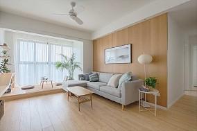 88㎡日系风的浪漫满屋客厅日式设计图片赏析
