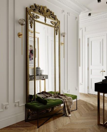 100平现代轻奢2房2厅,典雅的生活玄关