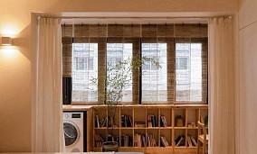 45平米小户型空间,一眼望穿的家阳台日式设计图片赏析