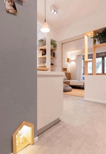 45平米小户型空间,一眼望穿的家功能区