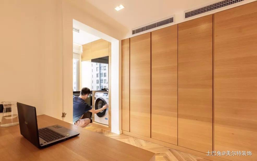 时尚新居超强收纳+无主灯照明(2)阳台木地板现代简约阳台设计图片赏析