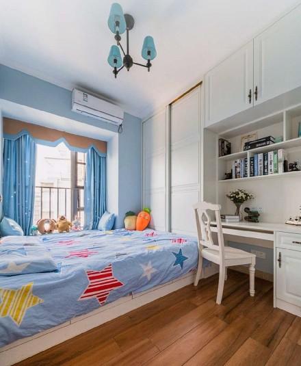 106平米的三居室,美式风格卧室