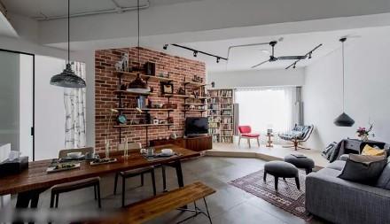 50m²的一居室照样可以住得安心舒适客厅