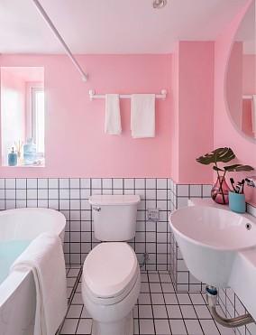 94㎡时尚混搭风,色彩斑斓!卫生间潮流混搭设计图片赏析