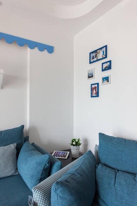 130㎡的地中海风格,蓝色的海洋客厅