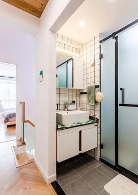 80㎡二层公寓一个人也要精致生活~卫生间北欧极简设计图片赏析