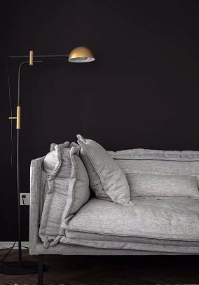 80平北欧宅,绝佳视野,深色高级客厅北欧极简设计图片赏析
