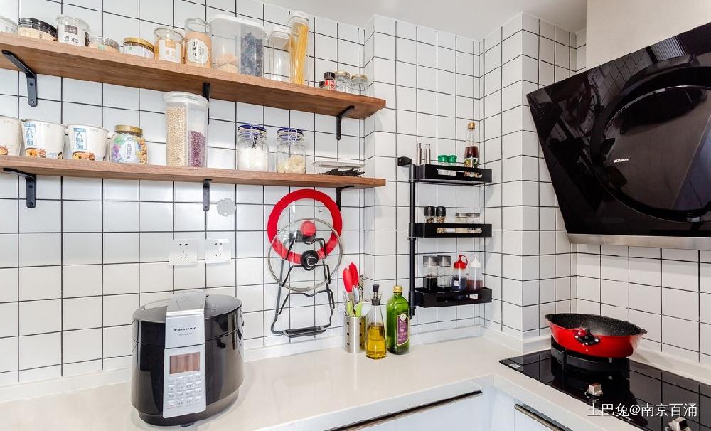 80㎡二层公寓一个人也要精致生活~餐厅北欧极简厨房设计图片赏析