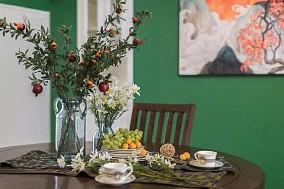 客餐厅采用的亮色点缀很是吸睛!厨房美式田园设计图片赏析