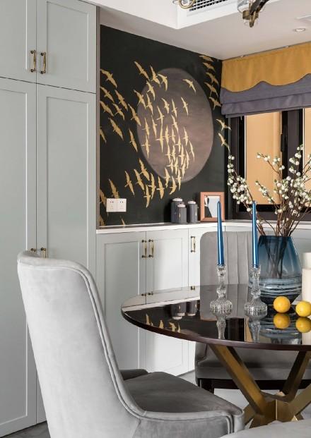 115平两居室美式风,低调的奢华美感厨房