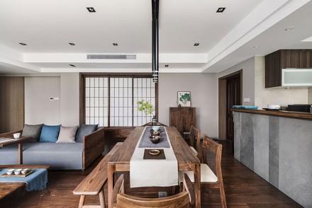 104平日式风格四房简约设计厨房