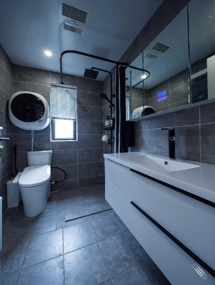 140㎡现代简约设计,低调而有内涵卫生间